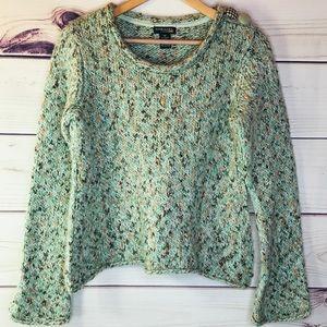 Mint Wool Mohair Blend Pullover Sweater
